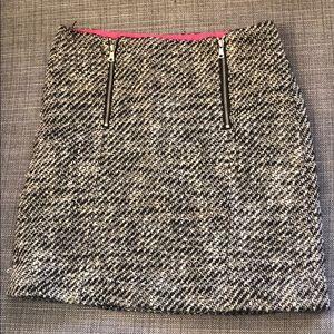 LOFT Mini Zipper Skirt